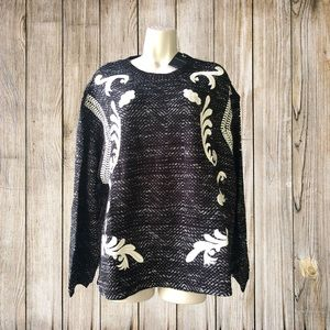 Lucky Brand Embroidered sweater XL $99.00 NEW